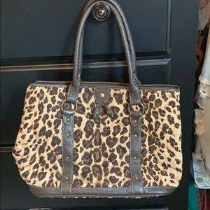 J CREW Leopard bag 🐆